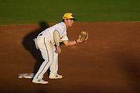 Bradenton Marauders second baseman Jackson Glenn (10) waits for a throw down during Game Two of the Low-A Southeast Championship Series against the Tampa Tarpons on September 22, 2021 at LECOM Park in Bradenton, Florida.  (Mike Janes/Four Seam Images)