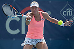 July  22, 2016:  Yanina Wickmayer (BEL) defeated Kristina Mladenovic (FRA) 4-6, 6-3, 6-4, at the Citi Open being played at Rock Creek Park Tennis Center in Washington, DC.  ©Leslie Billman/Tennisclix/CSM
