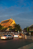 Buddist pagoda on the territory of Phra Buddhasaiyas temple, Bangkok, Thailand