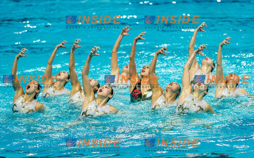 CHN - People's Republic of China<br /> GU Xiao GUO Li<br /> LI Xiaolu LIANG Xinping<br /> SUN Wenyan SUN Yijing<br /> TANG Mengni XIAO Yanning<br /> YIN Chengxin ZENG Zhen<br /> Day9 01/08/2015<br /> XVI FINA World Championships Aquatics<br /> Synchro<br /> Kazan Tatarstan RUS July 24 - Aug. 9 2015 <br /> Photo Pasquale Mesiano/Deepbluemedia/Insidefoto