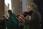 Musicians playing folk music May Morning Oxford Oxfordshire 2013, 2010s, UK