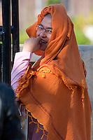 Myanmar, Burma.  Young Buddhist Nun,  Inle Lake, Shan State.