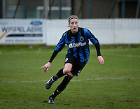 20140104 - AALTER , BELGIUM : Brugge's Heleen Jaques pictured during the female soccer match between Club Brugge Vrouwen and Massenhoven VC , of the 1/8 final matchday in the Belgian Women Cup competition. Saturday 4 January 2014 . PHOTO DAVID CATRY