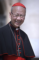 cardinale John Tong Hon.Pope Francis during of a weekly general audience at St Peter's square in Vatican, Wednesday.june19, 2019