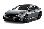 2017 Honda Civic Executive 5 Door Hatchback Angular Front stock photos of front three quarter view