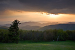 Shenandoah National Park, VA<br /> Ridges of the Shenandoah Mountains with clearing sky at sunset, from Skyline Drive