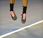 Roger Federer (SUI) moves on  at Australian Open in Melbourne Australia on 17th January 2013