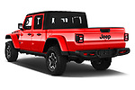 Car pictures of rear three quarter view of a 2020 Jeep Gladiator Rubicon 4 Door Pick Up angular rear