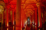 The Basilica Cistern's roof is held up by 336 columns, all over 26 feet tall.