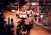 September 1996  File Photo - Montreal (qc) CANADA - Montreal Police closed many streets in Centre Sud and made multiple arrest related to gang and drug dealing.