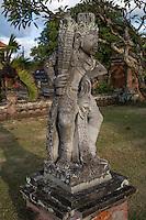 Bali, Indonesia.  Hindu Guardian Statue inside the Kerta Gosa Compound, Klungkung, Semarapura.