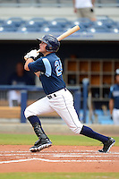 Charlotte Stone Crabs outfielder Drew Vettleson (24) during a game against the Daytona Cubs on July 19, 2013 at Charlotte Sports Park in Port Charlotte, Florida.  The game was called in the seventh inning tied at zero due to rain.  (Mike Janes/Four Seam Images)