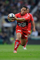 Chris Masoe of RC Toulon grabs a loose ball to start another attack