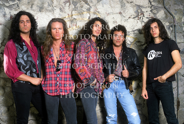 Various portraits & live photographs of the rock band, Hardline.