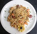 Pasta, La Porchetta Restaurant, London, city, England, UK, United Kingdom, Great Britain, Europe, European