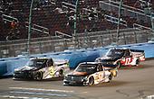 #3: Jordan Anderson, Jordan Anderson Racing, Chevrolet Silverado Bommarito.com, #51: Chandler Smith, Kyle Busch Motorsports, Toyota Tundra JBL, #17: Dylan Lupton, DGR-Crosley, Ford F-150 Crosley