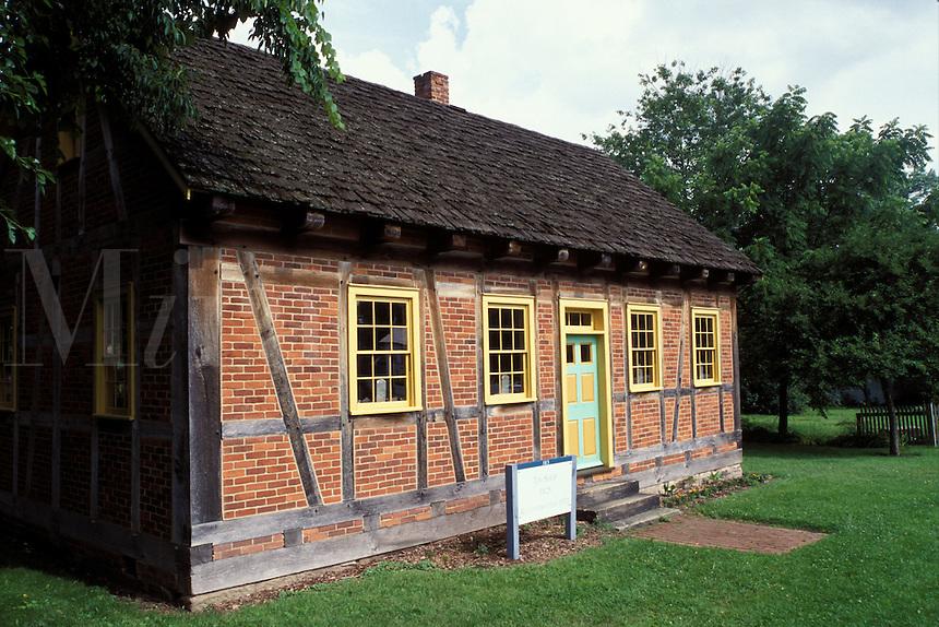 Zoar Village, Zoar, OH, Ohio, Historic house Zoar Village founded by German Immigrants.