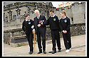 02/06/2008   Copyright Pic: James Stewart.File Name : sct_jspa08_veterans.FORMER ROYAL ENGINEER, LIEUTENANT COLONEL FRANK SAUNDERS, 101, TELLS SOME OF HIS WAR STORIES TO RYAN REYNOLDS, EUAN WEST AND DAYNA MCQUILLIAN FROM CORNTON PRIMARY AT THE VETERANS DAY EVENT LAUNCH AT STIRLING CASTLE.....James Stewart Photo Agency 19 Carronlea Drive, Falkirk. FK2 8DN      Vat Reg No. 607 6932 25.Studio      : +44 (0)1324 611191 .Mobile      : +44 (0)7721 416997.E-mail  :  jim@jspa.co.uk.If you require further information then contact Jim Stewart on any of the numbers above........