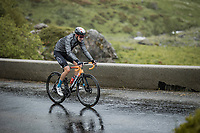 Wout Poels (NED/Bahrain-Victorious) up the Cormet de Roselend<br /> <br /> Stage 9 from Cluses to Tignes (144.9km)<br /> 108th Tour de France 2021 (2.UWT)<br /> <br /> ©kramon