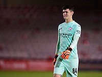 Manchester City U21's Cieran Slicker<br /> <br /> Photographer Andrew Vaughan/CameraSport<br /> <br /> EFL Papa John's Trophy - Northern Section - Group E - Lincoln City v Manchester City U21 - Tuesday 17th November 2020 - LNER Stadium - Lincoln<br />  <br /> World Copyright © 2020 CameraSport. All rights reserved. 43 Linden Ave. Countesthorpe. Leicester. England. LE8 5PG - Tel: +44 (0) 116 277 4147 - admin@camerasport.com - www.camerasport.com