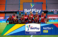 MEDELLÍN- COLOMBIA,  05-03-2021.Jugadores del Independiente Medellín posan para una foto previo al partido por la fecha 11 entre  Deportivo Independiente Medellín y La Equidad como parte de la Liga BetPlay DIMAYOR 2021 jugado en el estadio Atanasio Girardot de la ciudad de Medellín. / Players of Deportivo Independiente Medellin pose to a photo prior Match for the date 11 between  Deportivo Independiente Medellin and La Equidad  as part of the BetPlay DIMAYOR League I 2021 played at Atanasio Girardot stadium in Medellin city.Photo: VizzorImage / Donaldo Zuluaga/ Contribuidor