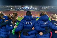 BREDA, NETHERLANDS - NOVEMBER 27: The USWNT huddles after a game between Netherlands and USWNT at Rat Verlegh Stadion on November 27, 2020 in Breda, Netherlands.