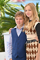 CANNES, FRANCE. July 11, 2021: Beckam Crawford & Jadyn Rylee at the photocall for Flag Day at the 74th Festival de Cannes.<br /> Picture: Paul Smith / Featureflash