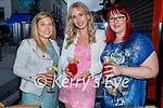 Kolanta Ru from Tralee celebrating her birthday in Teacht Beag on Saturday, l to r: Eileen Moloney, Kolanta Ru and Catherine O'Dee Coffey