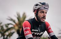 Julien Bernard (FRA/Trek-Segafredo) post-race<br /> <br /> 76th Paris-Nice 2018<br /> Stage 8: Nice > Nice (110km)