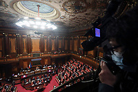 A general view during the information at the Senate about the government crisis.<br /> Rome(Italy), January 19th 2021<br /> Photo Pool Alessia Pierdomenico/Insidefoto