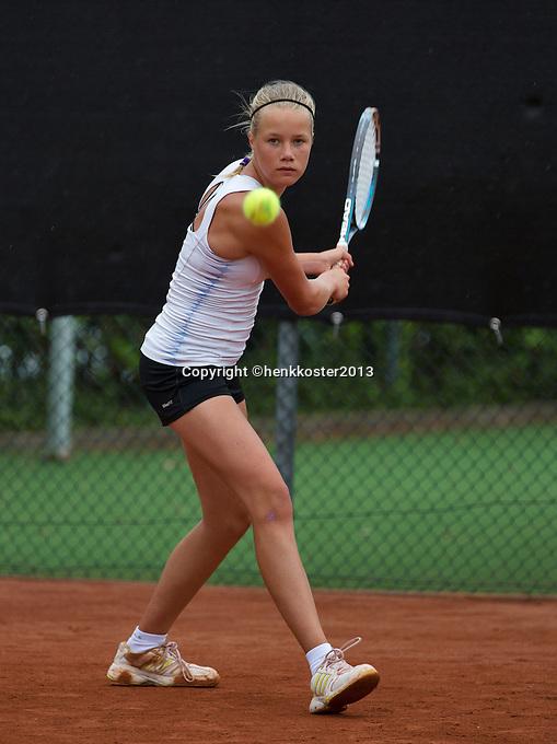 07-08-13, Netherlands, Rotterdam,  TV Victoria, Tennis, NJK 2013, National Junior Tennis Championships 2013, Nina Kruijer<br /> <br /> <br /> Photo: Henk Koster