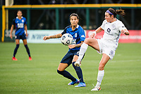 TACOMA, WA - JULY 31: Erin Simon #3 of Racing Louisville FC clears the ball during a game between Racing Louisville FC and OL Reign at Cheney Stadium on July 31, 2021 in Tacoma, Washington.