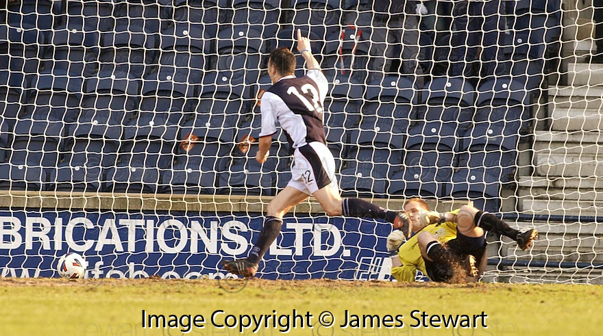 19/03/2005         Copyright Pic : James Stewart.File Name : jspa11_raith_v_falkirk.JOHN MARTIN CELEBRATES AFTER HE SCORES HIS SECOND FOR RAITH....Payments to :.James Stewart Photo Agency 19 Carronlea Drive, Falkirk. FK2 8DN      Vat Reg No. 607 6932 25.Office     : +44 (0)1324 570906     .Mobile   : +44 (0)7721 416997.Fax         : +44 (0)1324 570906.E-mail  :  jim@jspa.co.uk.If you require further information then contact Jim Stewart on any of the numbers above.........A