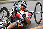 TORONTO, ON, AUGUST 8, 2015. Robert Labbe of Canada wins a bronze medal in men's road race (H1-2M) at the ParaPan Am Games in Toronto.
