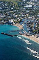 France, île de la Réunion, Saint-Paul, le port, vue aérienne  // France, Reunion island (overseas department), Saint Paul, the port ,  aerial view
