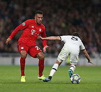 Bayern Munich's Corentin Tolisso and Tottenham Hotspur's Harry Winks<br /> <br /> Photographer Rob Newell/CameraSport<br /> <br /> UEFA Champions League Group B  - Tottenham Hotspur v Bayern Munich - Tuesday 1st October 2019 - White Hart Lane - London<br />  <br /> World Copyright © 2018 CameraSport. All rights reserved. 43 Linden Ave. Countesthorpe. Leicester. England. LE8 5PG - Tel: +44 (0) 116 277 4147 - admin@camerasport.com - www.camerasport.com
