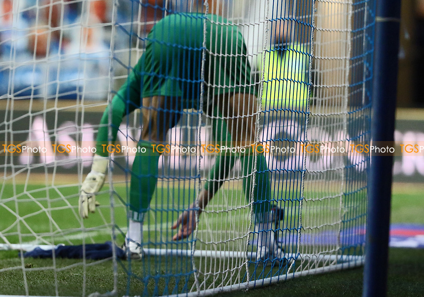 Ben Foster of Watford sets up his camera for his youtube channel during Queens Park Rangers vs Watford, Sky Bet EFL Championship Football at The Kiyan Prince Foundation Stadium on 21st November 2020