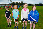 The Tralee Harriers Athletics club return to training on Tuesday evening . L to r: Sophie Mulgrew, Rian Moynihan, Amy Noonan and Lily Mae O'Sullivan.