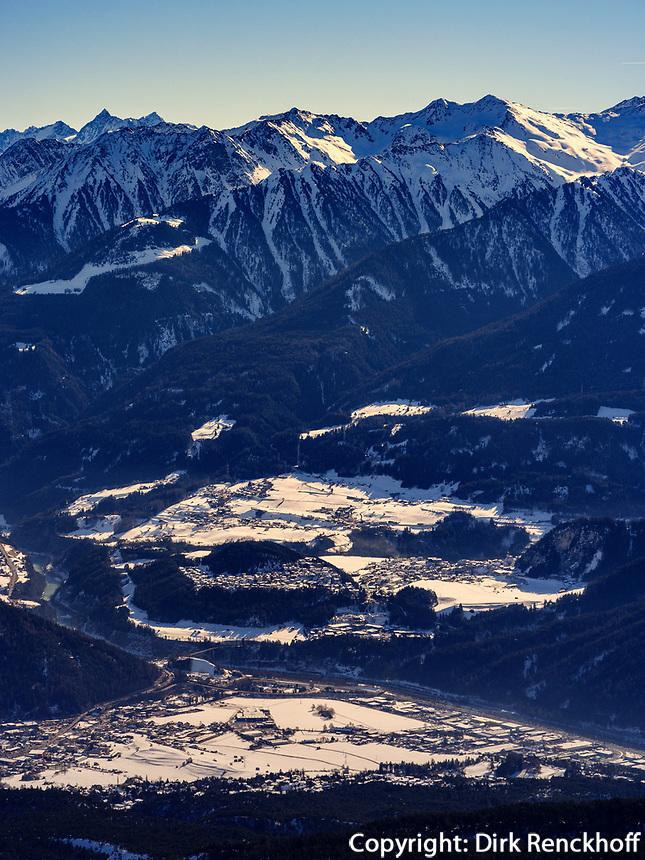 Blick von Bergstation Alpjoch, Ski-Gebiet Hochimst  bei Imst, Tirol, Österreich, Europa<br /> panorama, hillstation Alpjoch, skiing area Hochimst, Imst, Tyrol, Austria, Europe