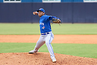 FCL Blue Jays pitcher Edgar Castro (41) during a game against the FCL Yankees on June 29, 2021 at the Yankees Minor League Complex in Tampa, Florida.  (Mike Janes/Four Seam Images)