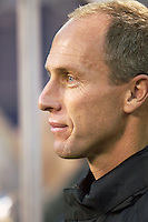 MetroStars new coach Bob Bradley before the team's home opener against the Crew.The Columbus Crew defeated the NY/NJ MetroStars 1-0 on 4/12/03 at Giant's Stadium, NJ.