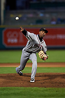 Quad Cities River Bandits relief pitcher Jojanse Torres (39) during a Midwest League game against the Fort Wayne TinCaps at Parkview Field on May 3, 2019 in Fort Wayne, Indiana. Quad Cities defeated Fort Wayne 4-3. (Zachary Lucy/Four Seam Images)