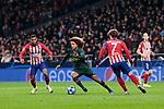 Atletico de Madrid's Antoine Griezmann and AS Monaco's Han-Noah Massengo during UEFA Champions League match between Atletico de Madrid and AS Monaco at Wanda Metropolitano Stadium in Madrid, Spain. November 28, 2018. (ALTERPHOTOS/A. Perez Meca)