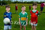 John Mitchels GAA Underage Academy on Sunday. L to r: David Loughlin, Finley Goggin and Conor Moynihan.