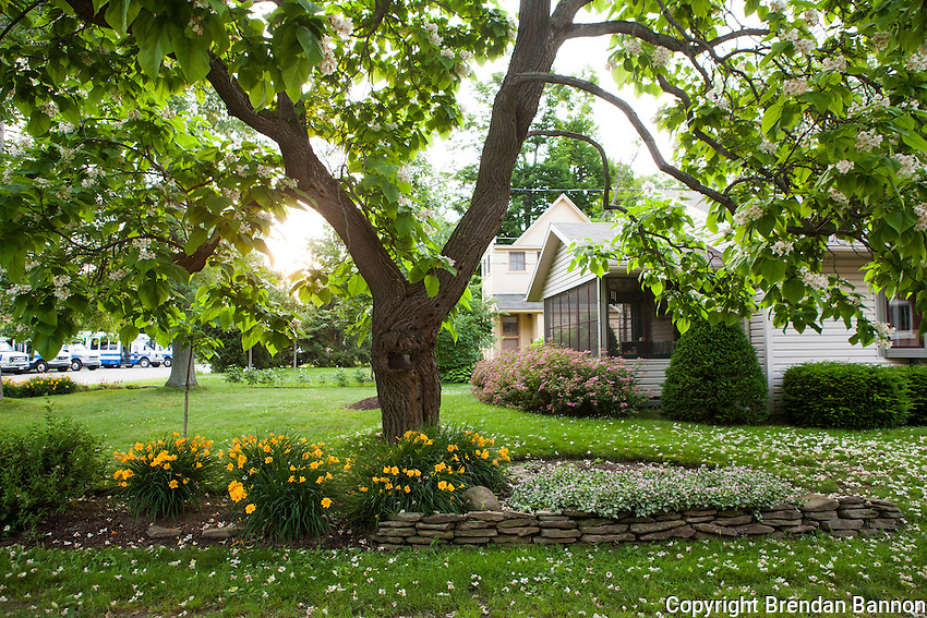 Home and Gardens on the grounds of the Chautauqua Institution. Chautauqua, NY. June 27, 2014. Photo by Brendan Bannon