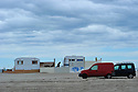 02/05/14 - PLAGE DE BEAUDUC - BOUCHES DU RHONE - FRANCE - Habitat alternatif et camping sauvage sur la plage de Beauduc - Photo Jerome CHABANNE