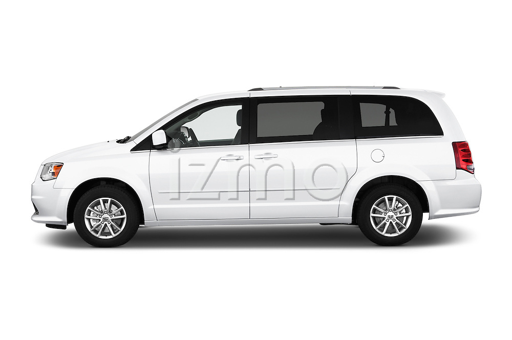 Car Driver side profile view of a 2018 Dodge Grand-Caravan SXT 5 Door Minivan Side View