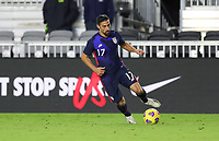 FORT LAUDERDALE, FL - DECEMBER 09: Sebastian Lletget #17 of the United States dribbles with the ball during a game between El Salvador and USMNT at Inter Miami CF Stadium on December 09, 2020 in Fort Lauderdale, Florida.