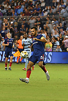 KANSAS CITY, KS - SEPTEMBER 11: Jonathan Bornstein #3 of Chicago Fire FC controls the ball in midfield during a game between Chicago Fire FC and Sporting Kansas City at Children's Mercy Park on September 11, 2021 in Kansas City, Kansas.