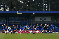 2nd May 2021; Kingsmeadow, London, England;  Chelsea warm up during the UEFA Womens Champions League Semi Final game between Chelsea and Bayern Munich at Kingsmeadow